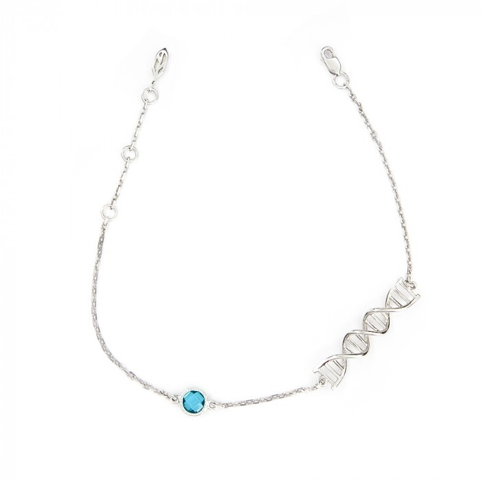 Silver bracelet with turquoise topaz