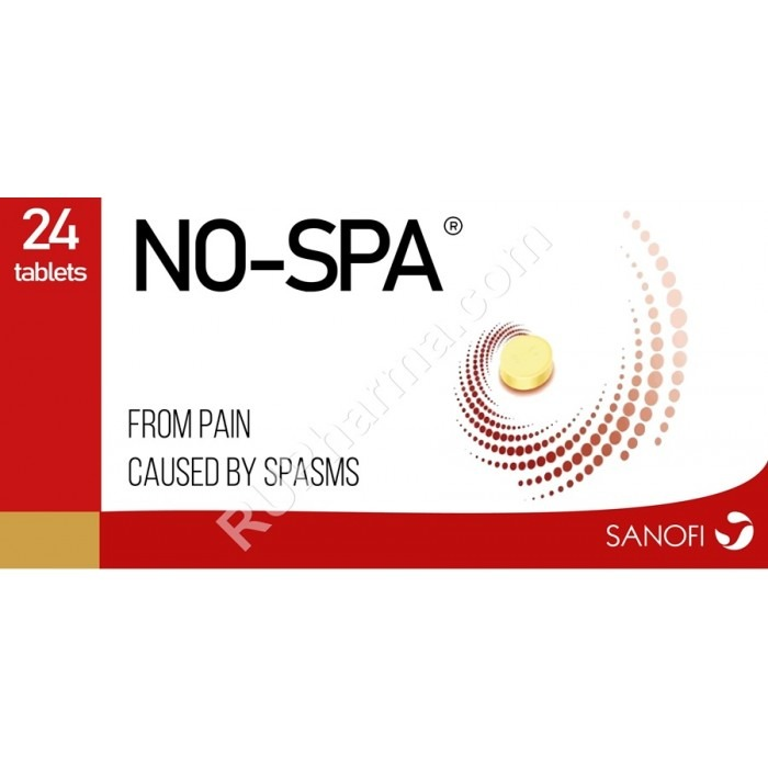 NO-SPA (Drotaverine, Doverin) 40-80 mg/tab, 24 tabs/pack OR Injectables - Pharmaceutics